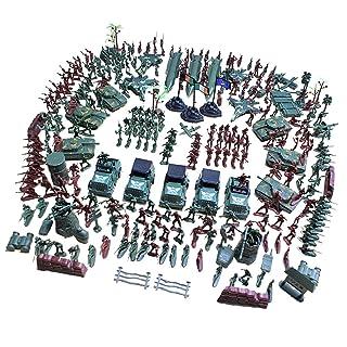 KESOTO 307 Pezzi Army Men Playset 4cm Soldato Action Figure con Bandiere di Aerei E Carri Armati Altri Accessori Giocattolo Modello Base Militare