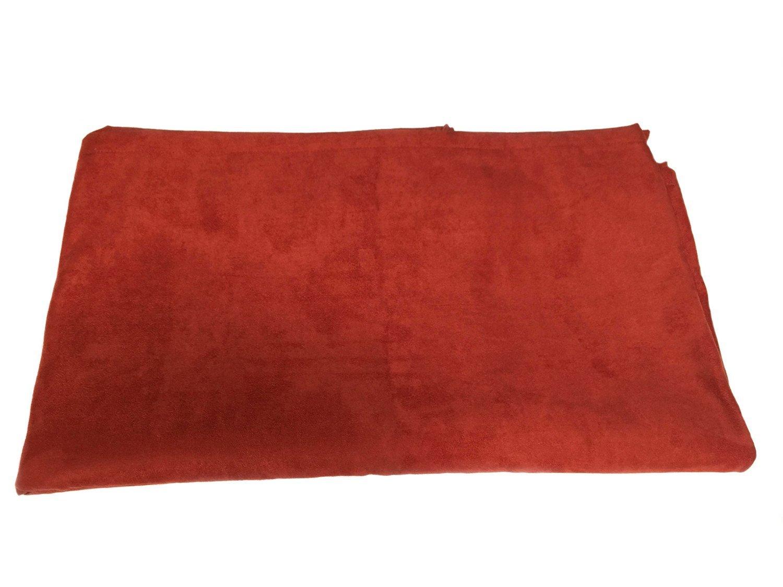 Pillowtex Faux Suede Bed Scarf Queen 26''x82'' Burnt Orange