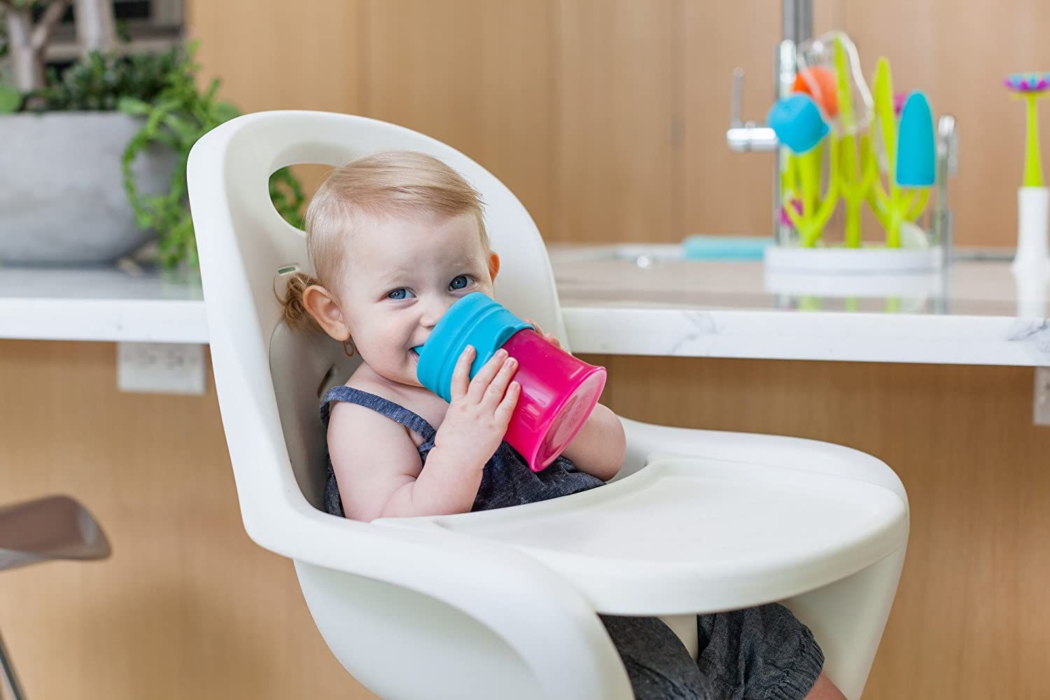 Boon Snug Silicone Sippy Lids Pink//Purple//Blue