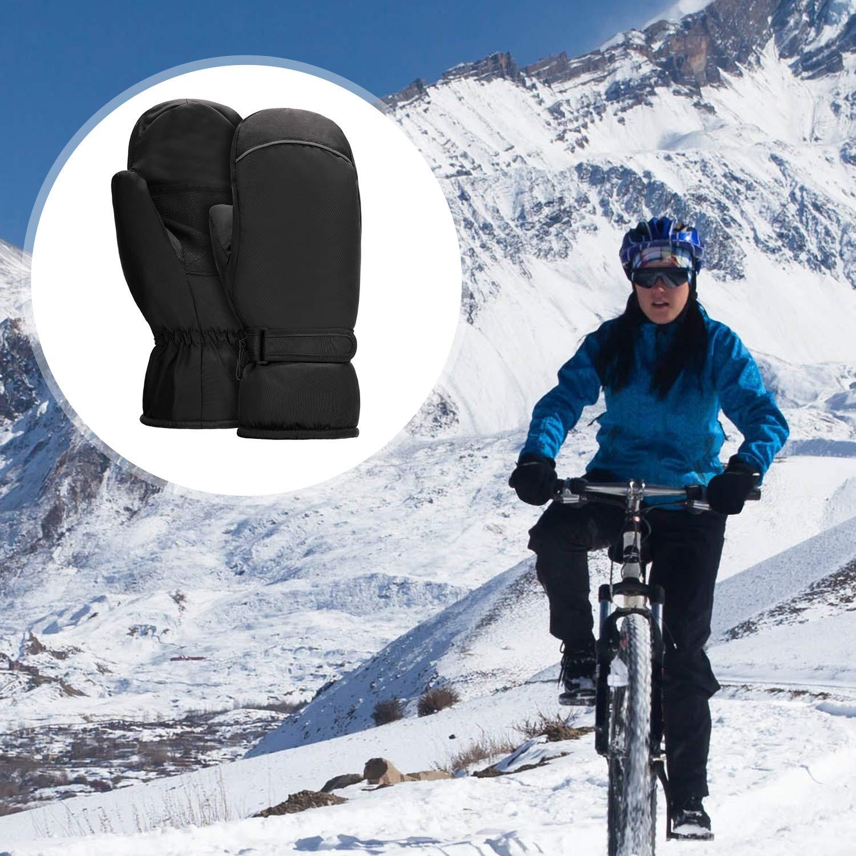 SATINIOR 3 Paires Mitaines de Ski dhiver Mitaines de Snowboard Mitaines Ext/érieures par Temps Froid Gants de Ski Imperm/éables Gants Mitaines Chauds pour Hommes Femmes