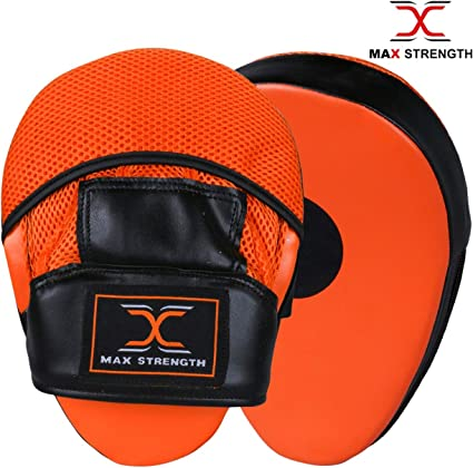 Boxing Gloves and Focus Pads Set Hook /& Jabs Mitts Punch Bag Mitts Gym