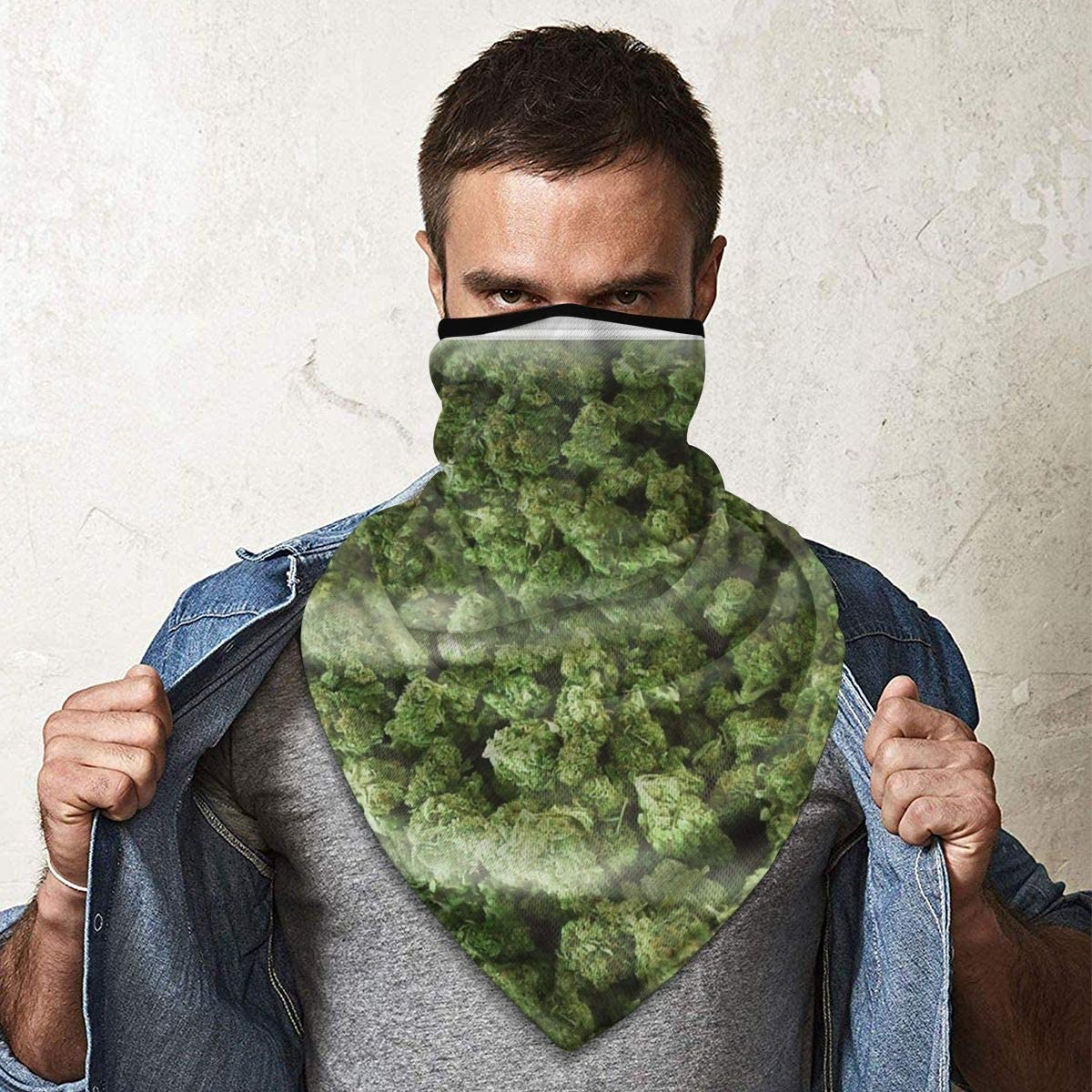 Wind-Resistant Face Mask/& Neck Gaiter,Balaclava Ski Masks,Breathable Tactical Hood,Windproof Face Warmer for Running,Motorcycling,Hiking-A Big Old Bag of Weed Case