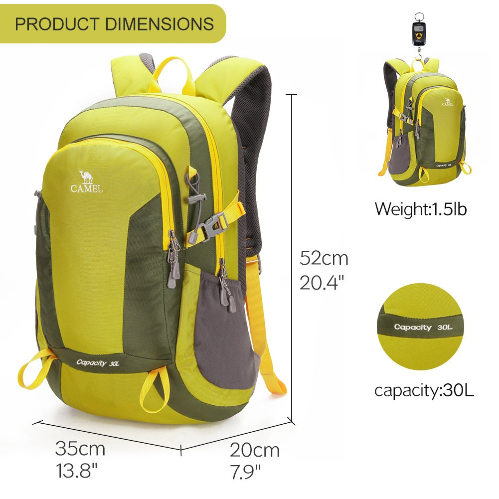 ed7cdc81d99 CAMEL CROWN 50L Waterproof Hiking Backpack Travel Daypack Backpacks for  Outdoor Camping Trekking Backpacking larger image