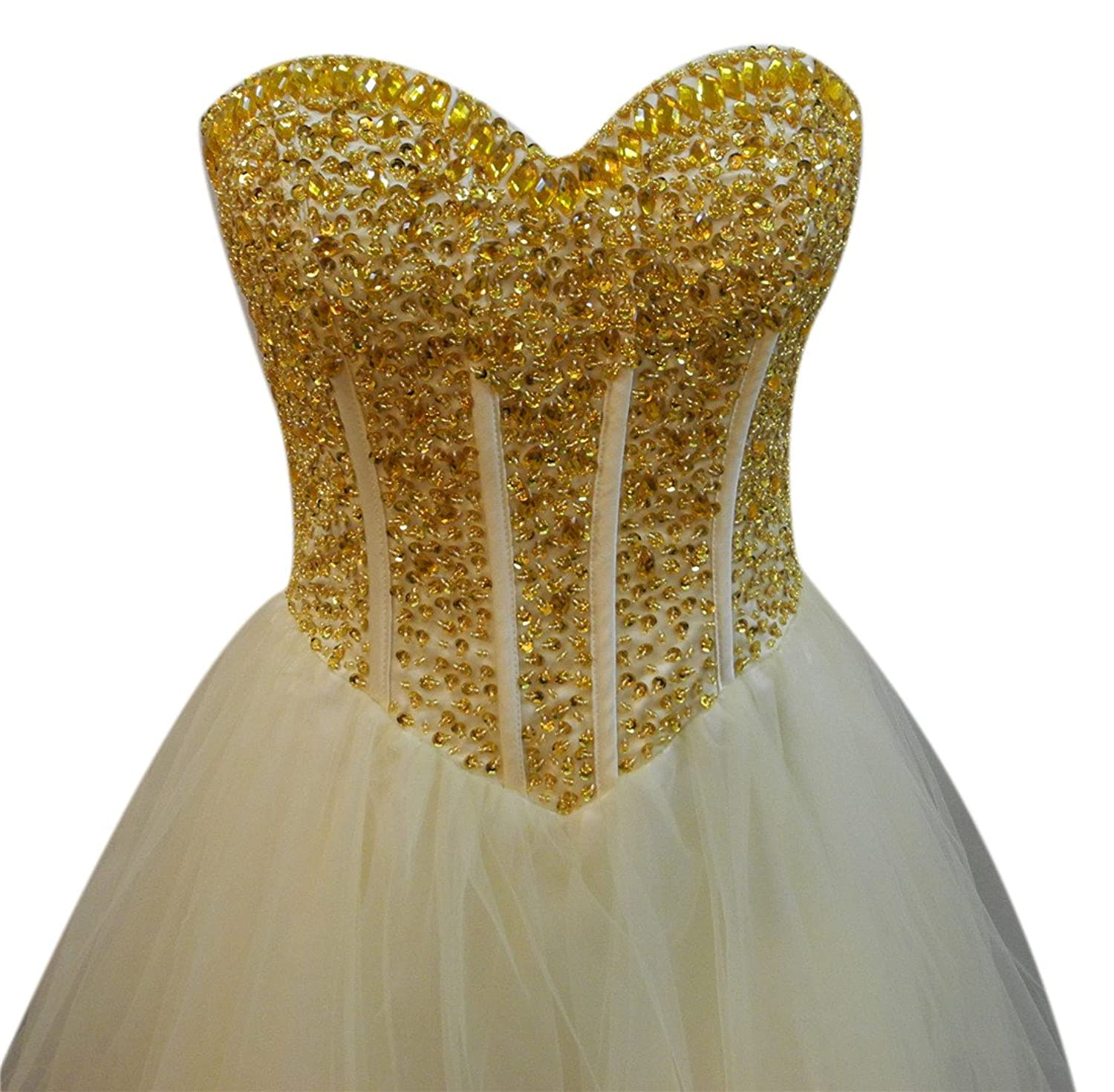 AngelDragon Strapless Rhinestones Beading Short Tulle Cocktail Party Dresses