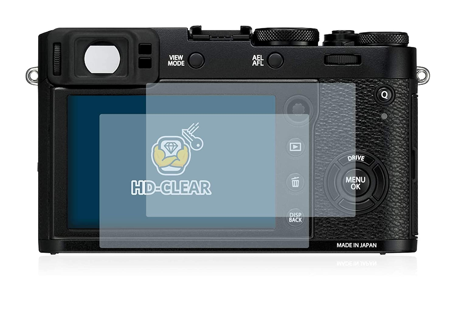 brotect 2x Screen Protector compatible with Fujifilm X100F HD-Clear Protection Film