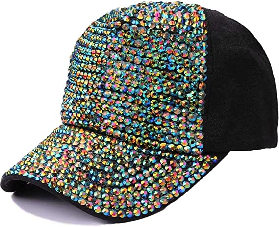 xiaochicun Nuevo Sombrero para Adultos Lleno de Diamantes Gorra de ...