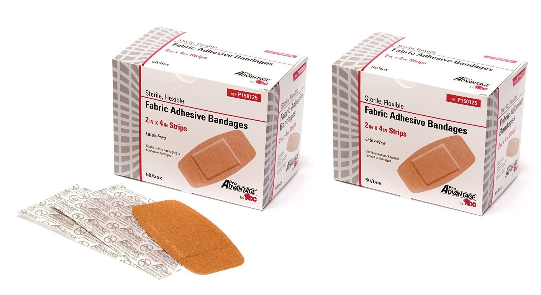 ProAdvantage P150125 Flexible Large Adhesive Bandages 2'' x 4'' (Pack of 100)