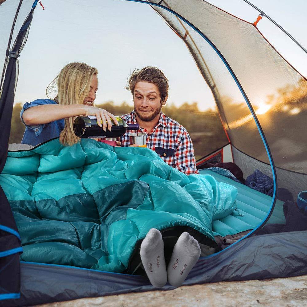Extrem Outdoor 4-Jahreszeiten Leichte Camping Deckenschlafsack Wasserfest Winddicht 10/°f/ür Erwachsene Camping Bessport Schlafsack Flanell Baumwoll Warmer