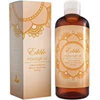 Pure Vanilla Sensual Massage Oil For Body - Edible Massage Oil And Lubricant For...