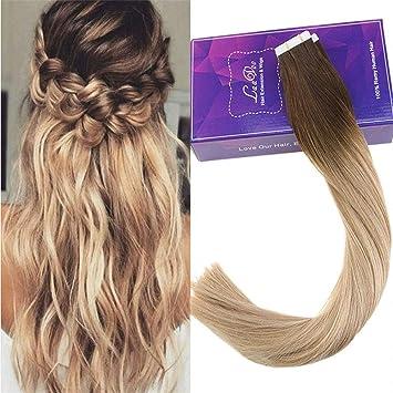 Amazon Com Laavoo 20 Tape Balayage Hair Extension Highlighted