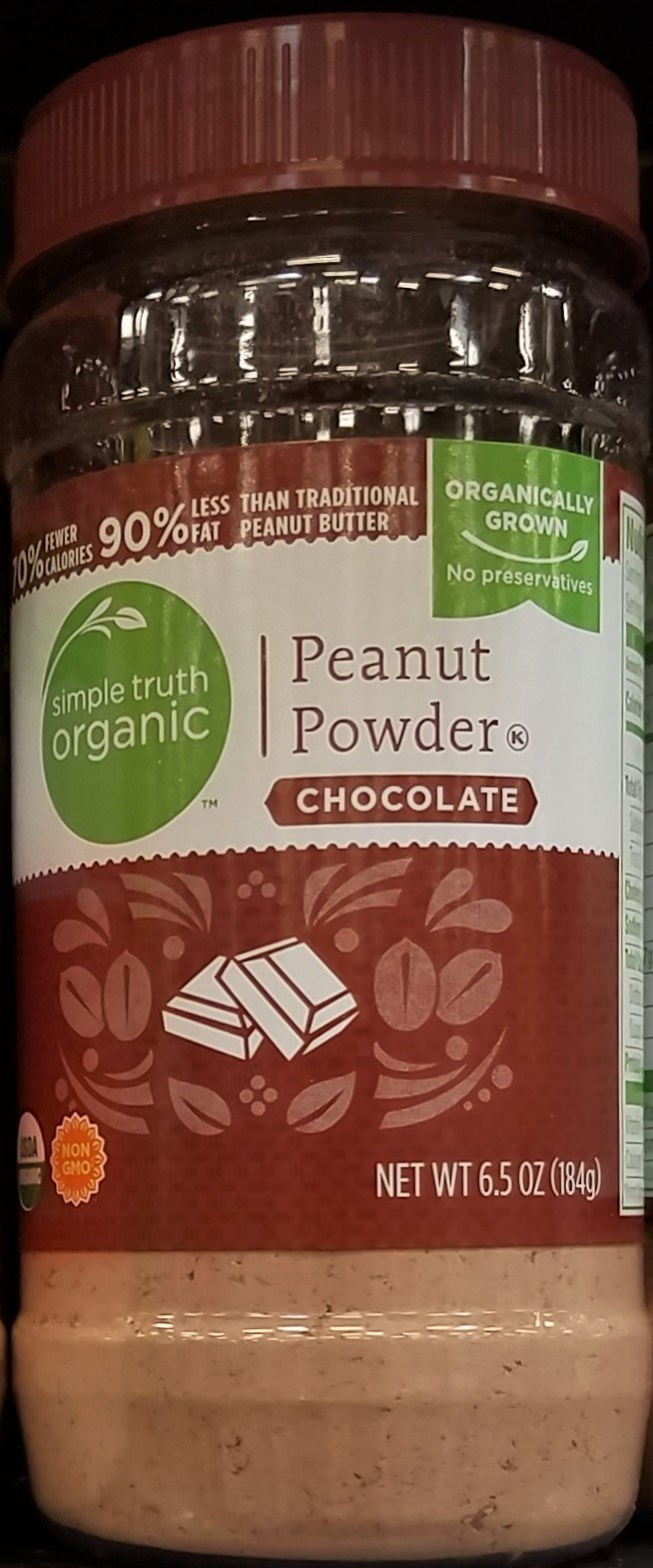 Simple Truth Organic Peanut Powder - Chocolate 6.5 oz (Pack of 2)