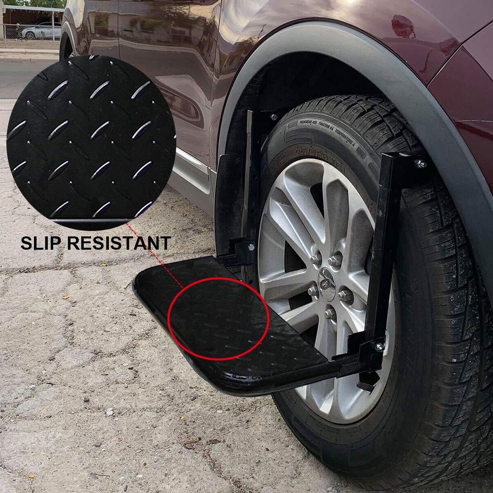 Auto Procarry Tire Step, Black Adjustable Truck Tire Step Fits 13.5-inch by Auto Procarry (Image #5)