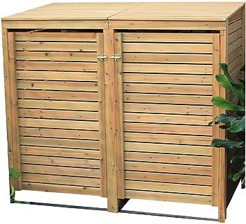 Hervorragend Woodside Holz Outdoor Mülltonne, Schrank nachsiebeinheit: Amazon  WL22