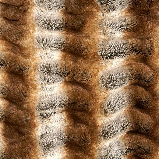 Amazon Com Tissavel Luxury Faux Shar Pei Chinchilla Fur Gold