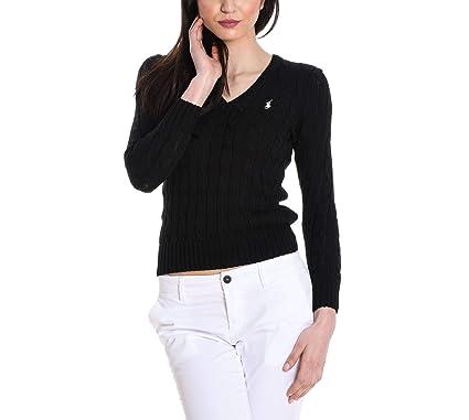 Ralph Lauren Femme 211580008039 Noir Coton Maille  Amazon.fr ... 1b0ae9a3f37