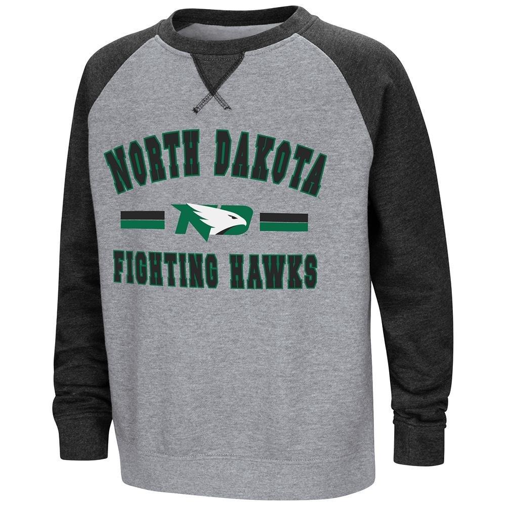 Colosseum Youth North Dakota Fighting Hawks Fleece Crewneck Sweatshirt