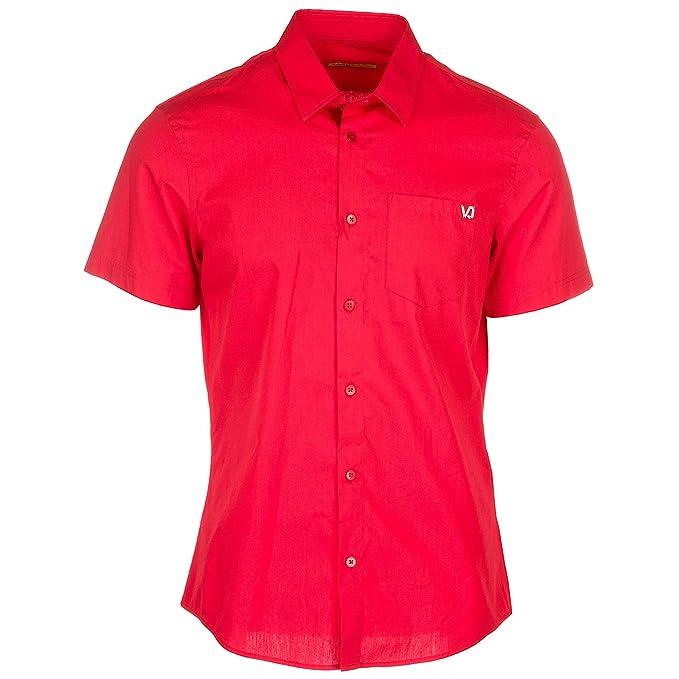 Versace Jeans Camisa de Mangas Cortas Hombre Rosso 48 EU: Amazon.es: Ropa y accesorios