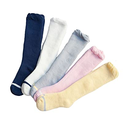 5 Pack Baby Girls Boys Infant Toddler Thick Cotton Knee High Stockings
