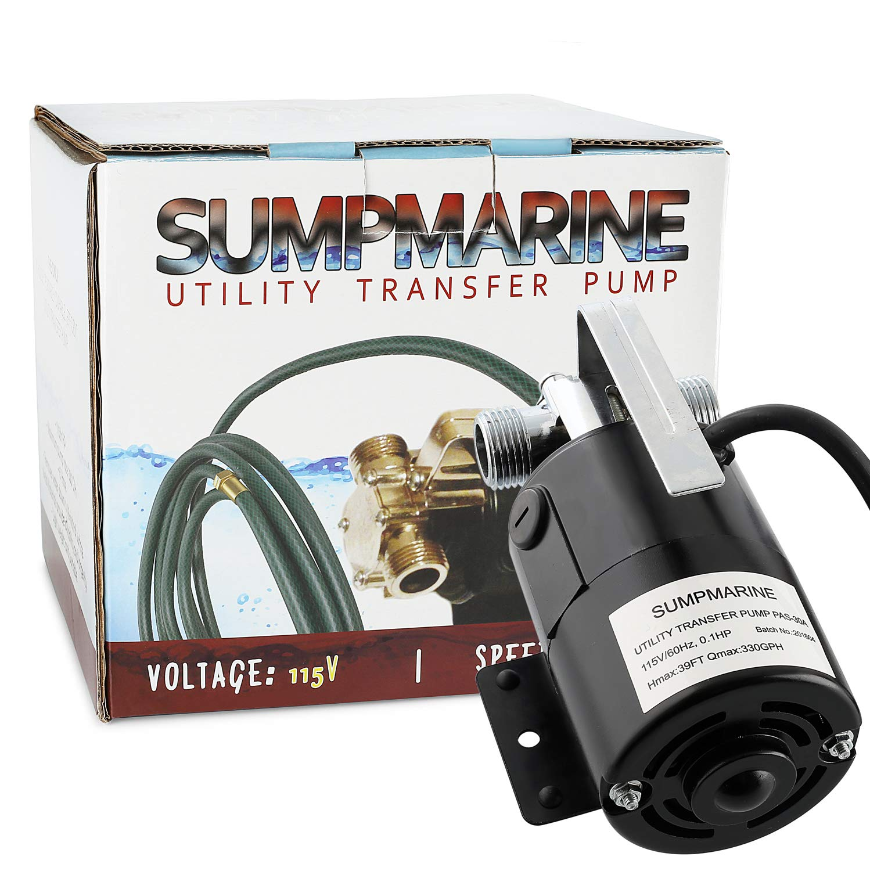 SumpMarine UTP 115-Volt 330 GPH Portable Transfer Water Pump Bronze