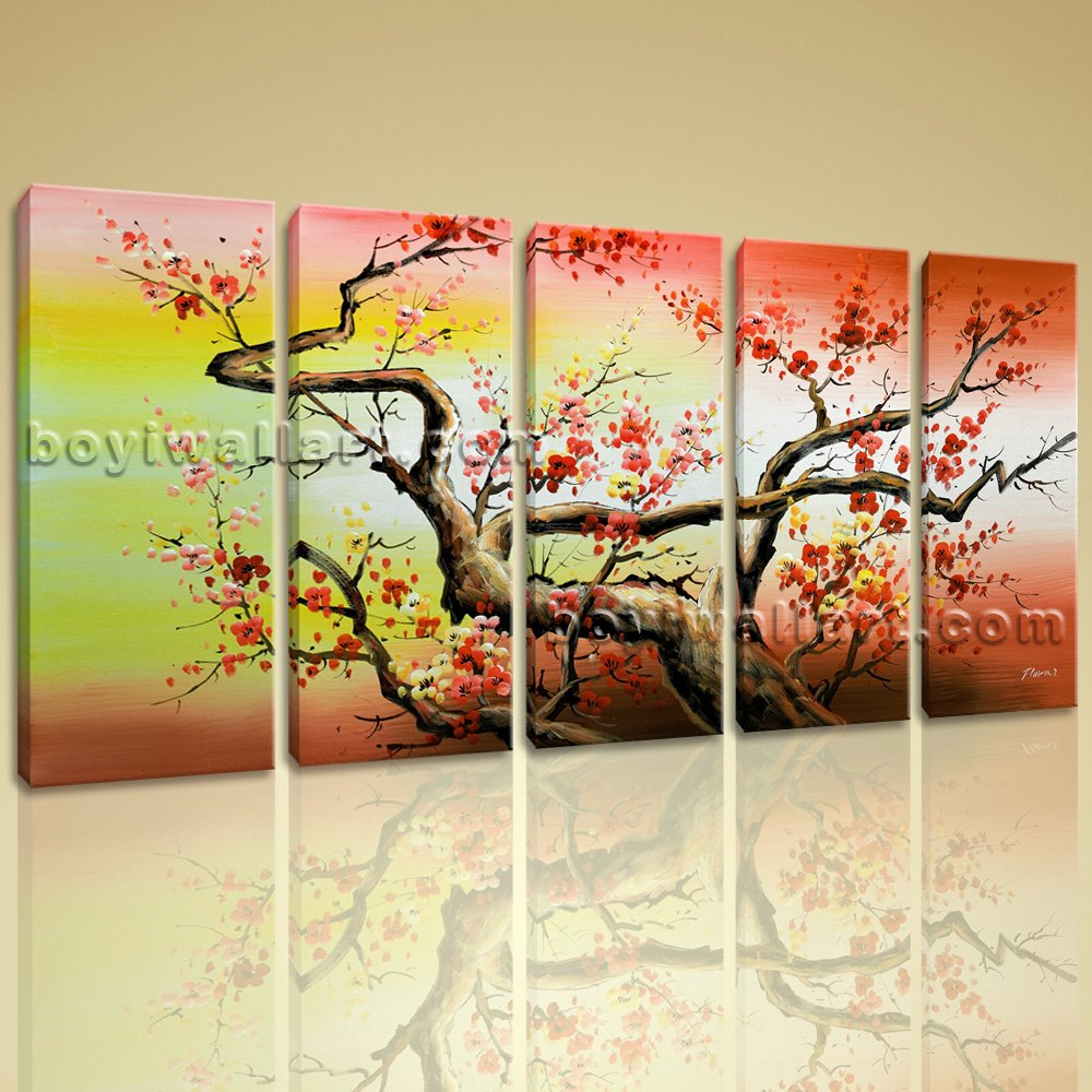 Amazon.com: Colorful Cherry Blossom Tree Abstract Floral Painting ...