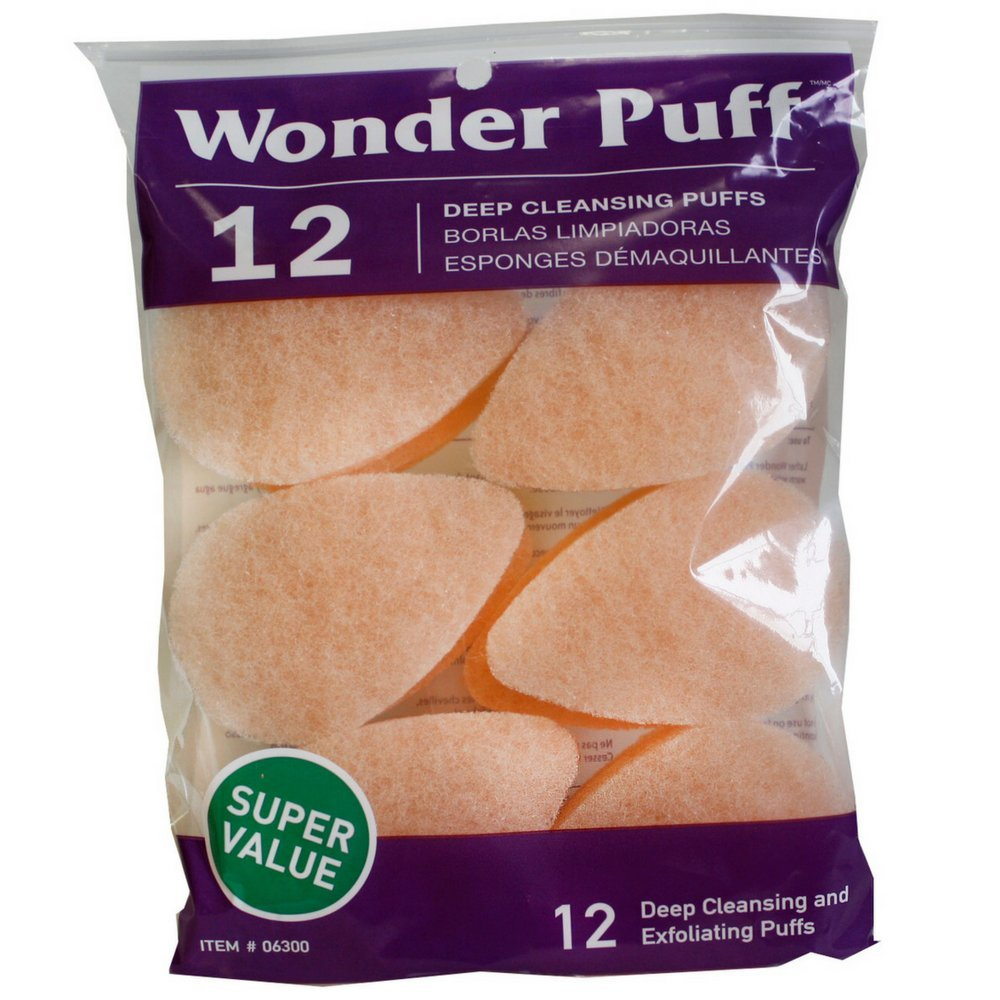 Wonder Puff 12 Deep Cleansing Puffs 038389063002