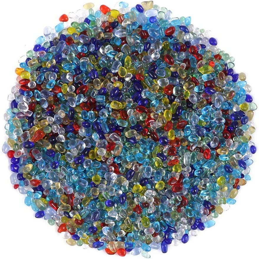 Exceart Mini Glass Gems Water Gel Beads Crystal Pearl Art Craft Vase Fille Stones Wedding Centerpiece Decoration 200g