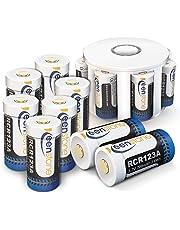 Keenstone RCR123A Akku, 3.7V 700mAh Li-ion CR123A Wiederaufladbare Batterien mit Ladegerät (12 Stück)