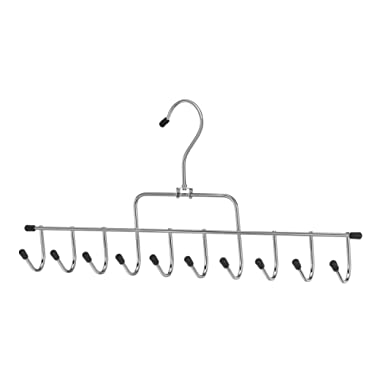 Whitmor 10 Hook Accessory Hanger Chrome / Black