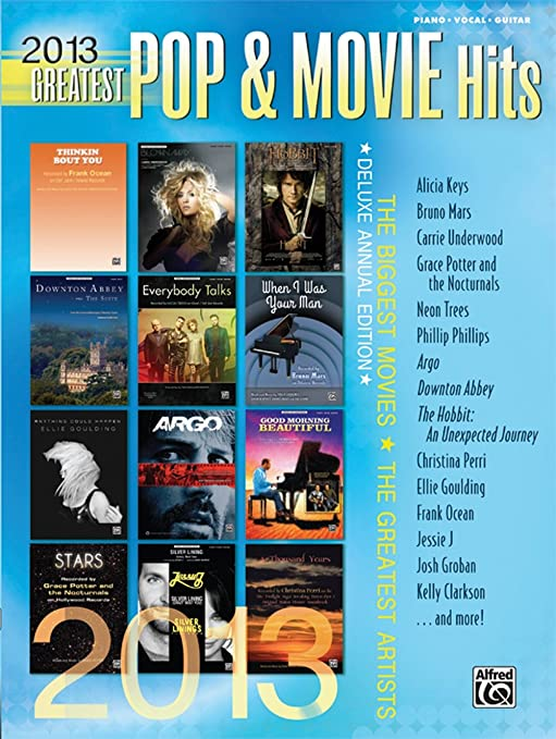 Amazon Alfred 2013 Greatest Pop Movie Hits Pvc Book
