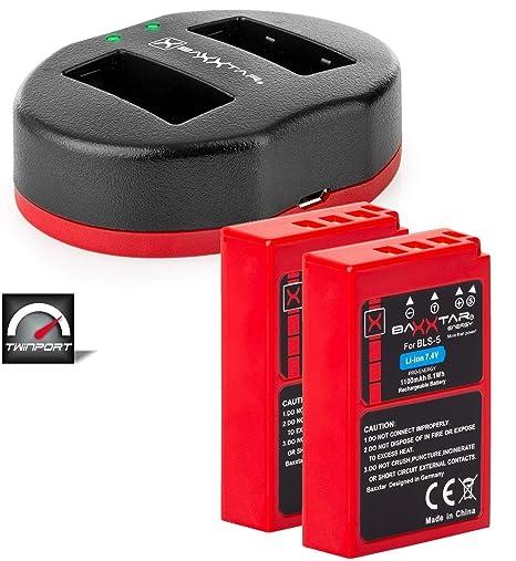 2x Baxxtar Pro Batería de Repuesto para Olympus BLS-50 BLS-5 ...
