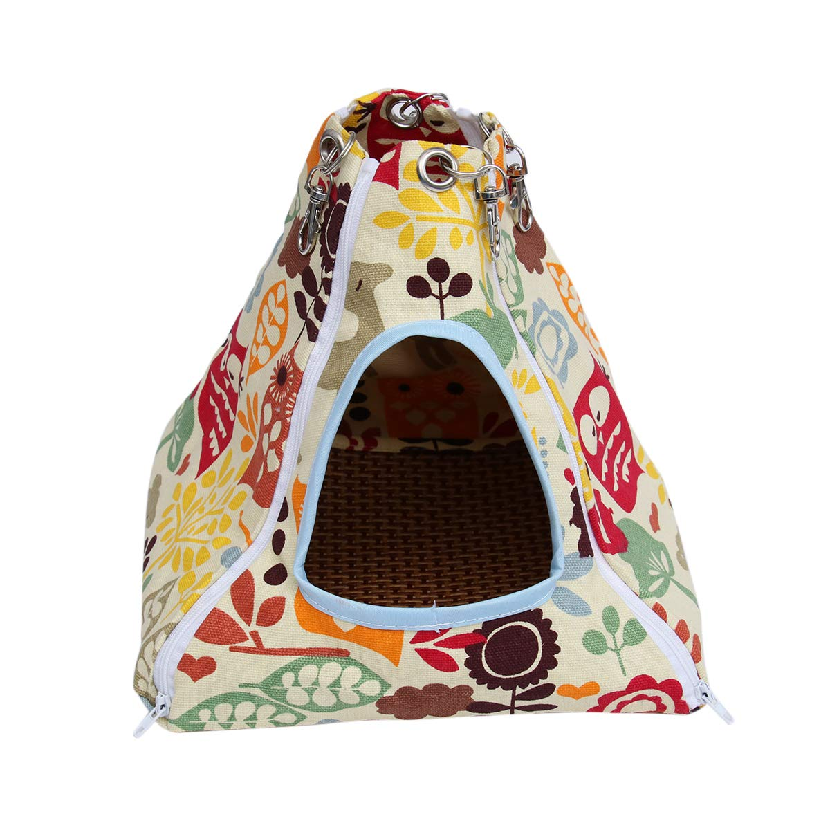 POPETPOP Small Animal Hammock Detachable Nest with Cool Mat for Hamster Rabbit