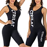 CtriLady Wetsuit Women 1.5mm Neoprene Shorty Wetsuit Sleeveless Vest Diving Suits with Front Zipper UV Protection Full…