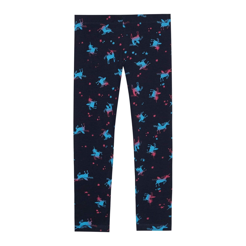 Bluezoo Kids Girls Navy Unicorn Print Leggings
