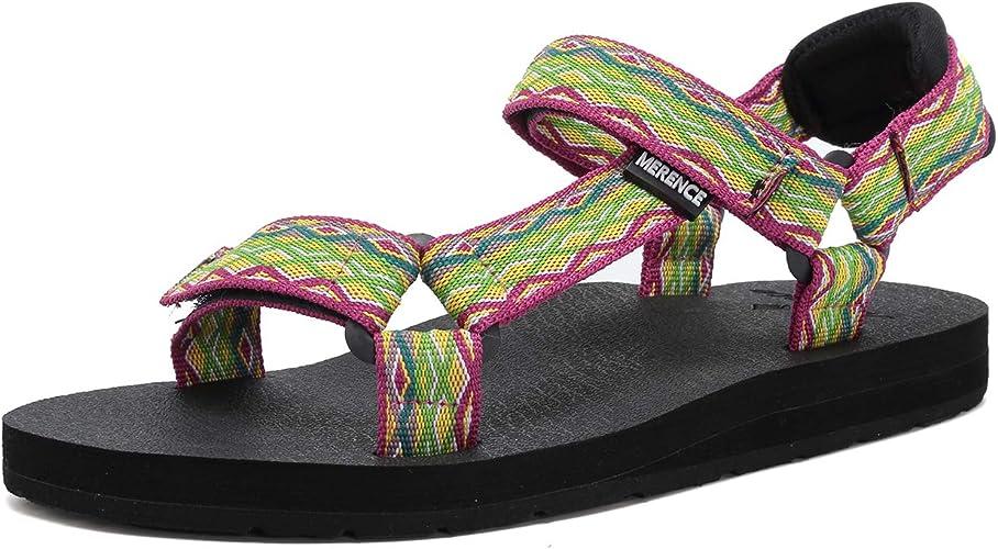 Amazon.com: MerenCE - Zapatillas de playa para mujer, diseño ...