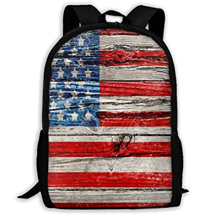 46cb56141b4 Image Unavailable. Image not available for. Color  Backpack American Flag  Vintage Wood Womens School Backpacks