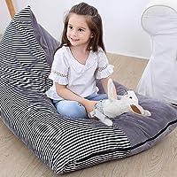 Stuffed Animal Bean Bag Kids Toy Storage Organizer Stuffie Seat Soft Velvet Floor Foldable Chair Sofa Seat Cover for…