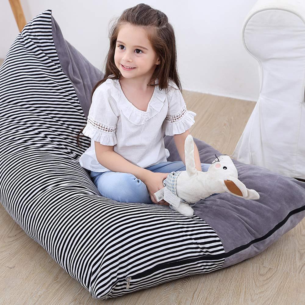 100 x 120 cm Iraza in Similpelle per Adulti e Bambini per Camera da Letto Colore Grigio Pouf copripoltrona Gonfiabile