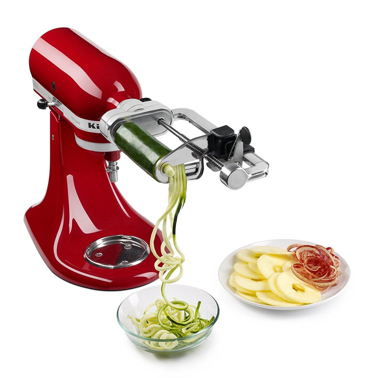KitchenAid RKSM1APC Spiralizer Attachment with Peel, Core & Slice (CERTIFIED REFURBISHED)
