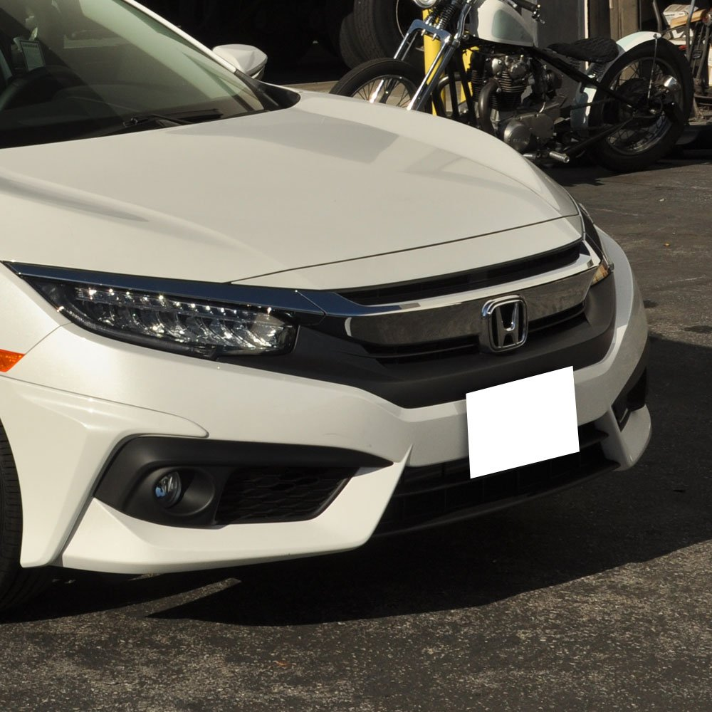 HFP Style Black PP Front Lip Finisher Under Chin Spoiler Add On by IKON MOTORSPORTS Front Bumper Lip Fits 2016-2018 Honda Civic 2017