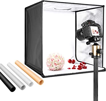 Emart 20 x 20 Inch Portable Photo Studio Kit Photography Light Box Table Top LED Lighting for Product Photography