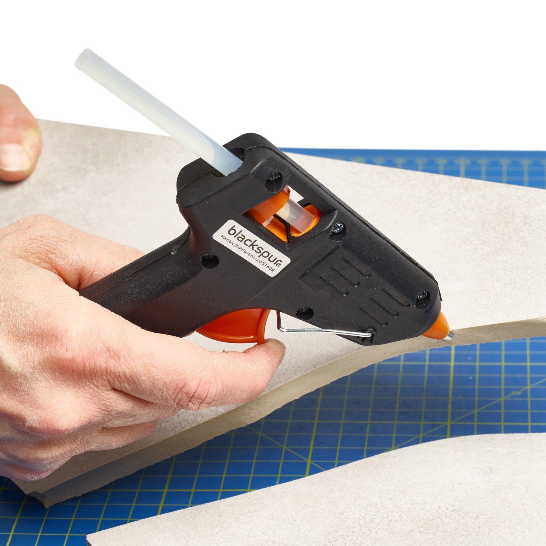 Vinsani DIY Craft Mini Gun Hot Melt Easy Use Trigger with 52 Glue Sticks, Black, 11.5 x 2.3 x 11.5 cm 0007461
