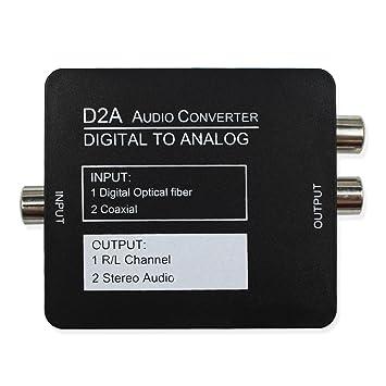 wiistar Digital a analógico estéreo L/R Audio Convertir adaptador convertidor digital coaxial SPDIF o
