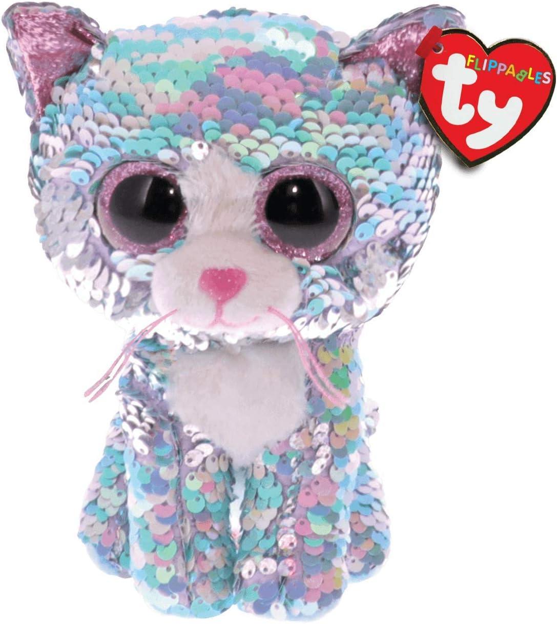Ty – Flippables – Peluche de Lentejuelas Brillante Whimsy le Gato: Amazon.es: Juguetes y juegos