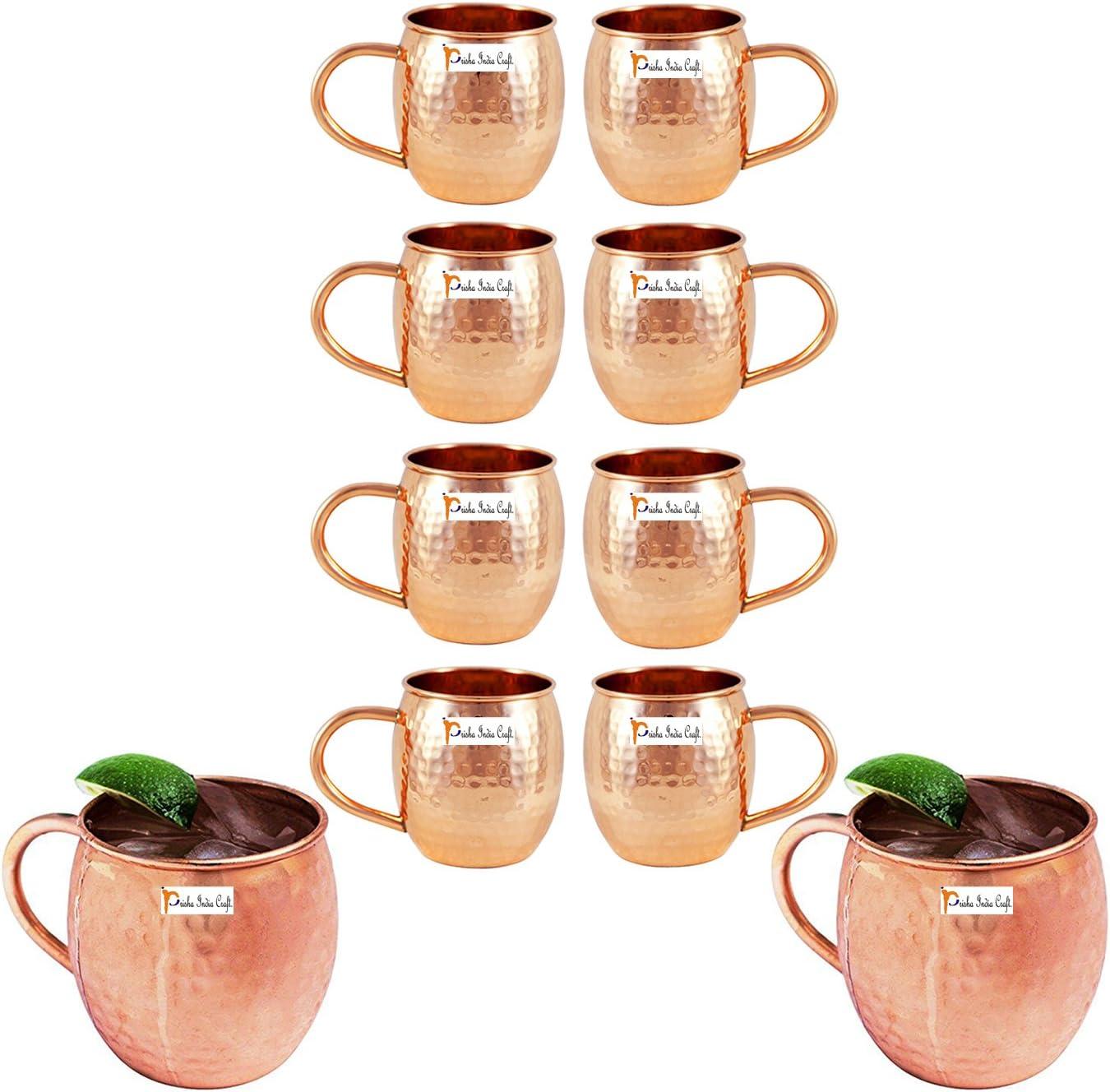Conjunto de 10 - artesanía india Prisha ® Barril cobre Mug ...