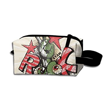 49ea876282f8 Amazon.com : Grunge Eye Rock Poster Makeup Bag/Travel Cosmetic Bags ...