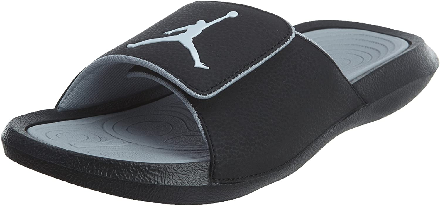 Nike Mens Jordan Hydro 6 Black Grey Synthetic Sandals 10 US