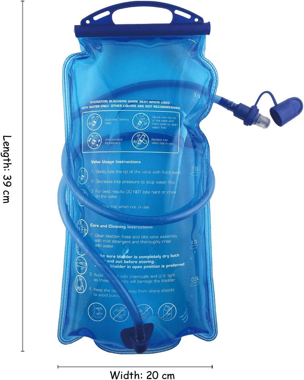 Sac de Rangement pour v/élo B-Earth Poche Hydratation 3L 2L 1,5L Grand r/éservoir deau /à Ouverture de 3 litres /étanche /à leau Militaire