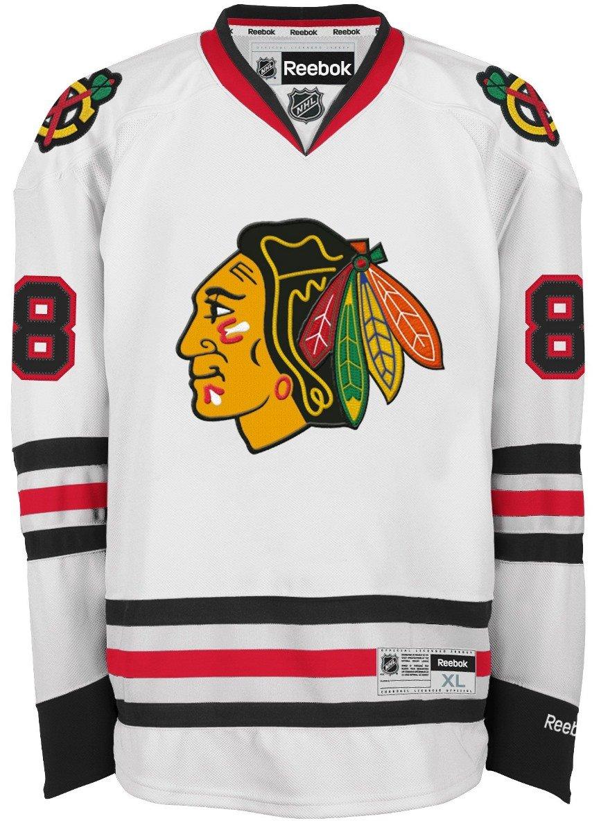 1ad69492d91 Amazon.com : Reebok Patrick Kane Chicago Blackhawks NHL Premier Jersey -  White : Athletic Jerseys : Sports & Outdoors