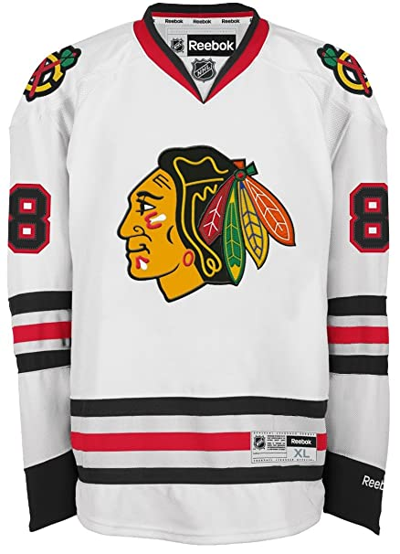 686d00e2 Amazon.com : Reebok Patrick Kane Chicago Blackhawks NHL Premier Jersey -  White : Athletic Jerseys : Sports & Outdoors