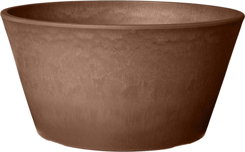 Arcadia Garden Products PSW TD25C Sleek Bulb Pan, 10 by 5-Inch, Chocolate